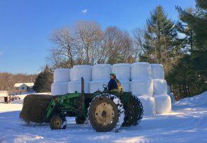 tractor in winter